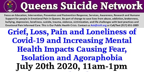 Queens Suicide Network and Zero Queens Suicide Initiative Monthly Meetings tickets