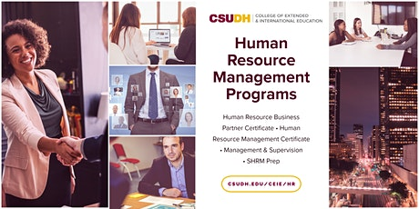 Info Sessions: Human Resources Management Programs | Webinar (10/3/20) tickets