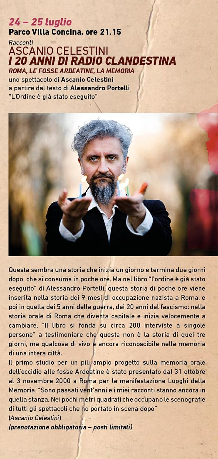 Immagine Ascanio Celestini - I 20 anni di Radio Clandestina