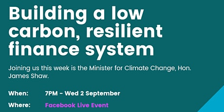Building a low carbon, resilient finance system tickets