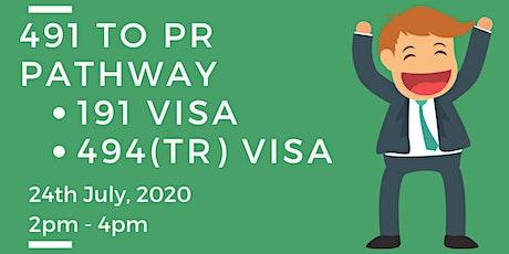 491 visa to PR pathway tickets