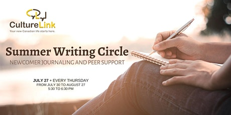 Summer Writing Circle - Newcomer Journaling and Peer Support tickets