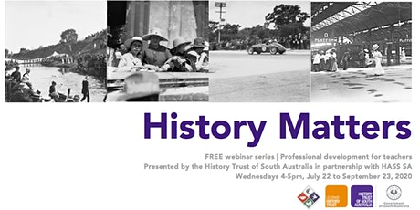 History Matters: Professional Development for Teachers via ZOOM tickets