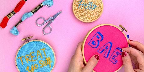 Make Embroidery Wall Art WebJam tickets