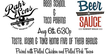 Rahr & Sons Beer School and Tasting/Pairing tickets