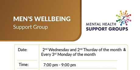 Men's Wellbeing Support Group - 3rd Monday tickets