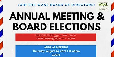 WAAL Annual Meeting tickets