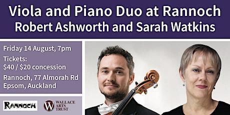 Viola and Piano Duo at Rannoch, with Robert Ashworth and Sarah Watkins tickets
