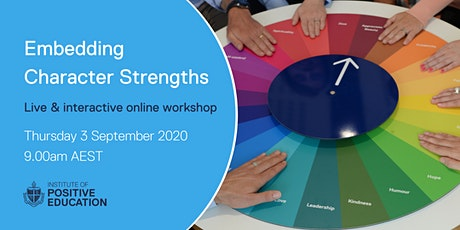 Embedding Character Strengths Online Workshop (September 2020) tickets