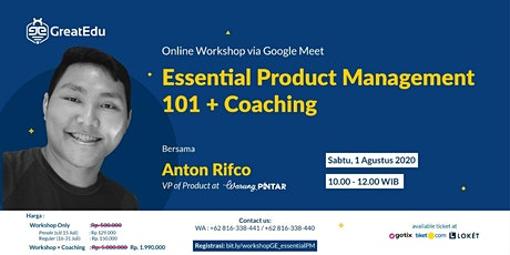 [PAID] Essential Product Management 101 -  Online Workshop tickets