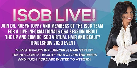 ISOB Live Informational and Q&A session tickets