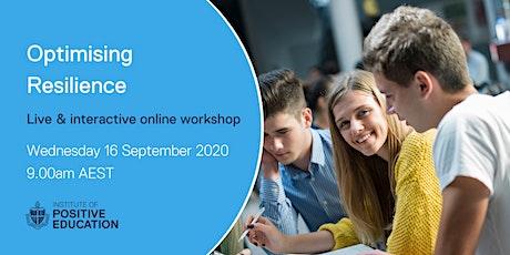 Optimising Resilience Online Workshop (September 2020) tickets