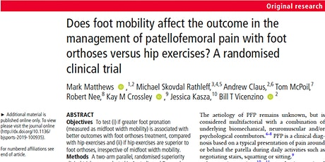 Targeted treatment for patellofemoral pain: what is the evidence? tickets