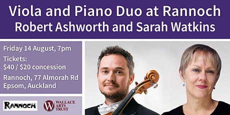 Viola and Piano Duo at Rannoch, with Robert Ashworth and Sarah Watkins tickets