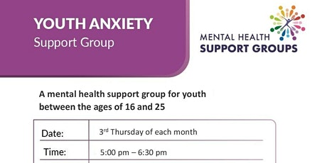 Youth Anxiety Support Group tickets