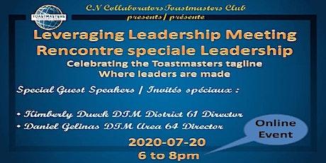 Leveraging Leadership Meeting / Rencontre spéciale Leadership billets