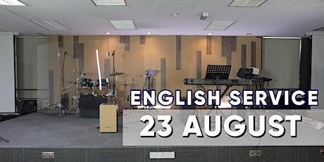 English Sunday Service - 23 AUGUST tickets