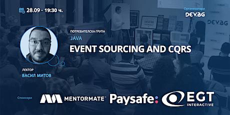 Webinar: Java: Event sourcing and CQRS boletos