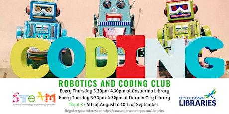 Coding & Robotics Club - Casuarina Library 3:30-4:30 tickets