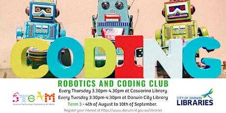 Coding & Robotics Club - Darwin City Library 3:30-4:30 - Ages 8+ tickets