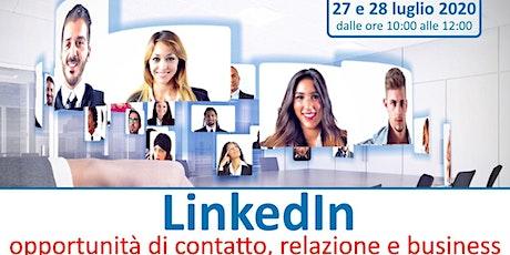 Webinar Formativo LinkedIn: opportunità di contatto, relazione e business biglietti
