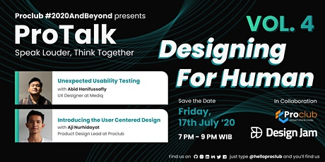 Protalk Vol.4 : Designing For Human tickets