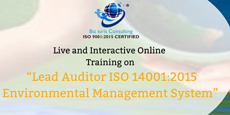 LEAD AUDITOR ISO 14001:2015 ENVIRONMENTAL MANAGEMENT SYSTEM tickets
