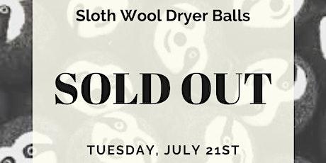 Sloth Wool Dryer Ball Workshop tickets