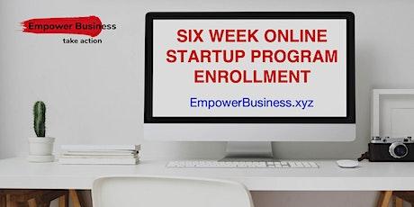 6 Week Online Startup tickets