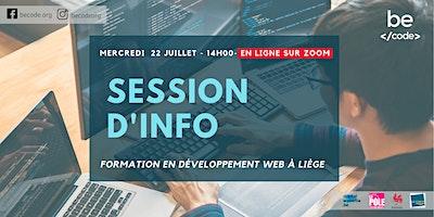 BeCode – Séance info – 22/07/2020 à 14H00 – ZOOM