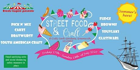 Streetfood & Craft Market @Cutty Sark Gardens, Greenwich tickets