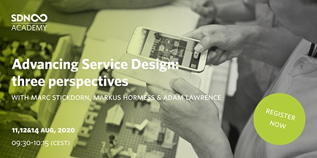 Advancing Service Design: three perspectives tickets