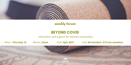 Weekly Forum: Beyond COVID tickets