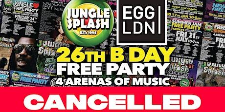 [CANCELLED] Jungle Splash Free Birthday Party tickets