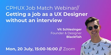 UX Job Match Webinar // Getting a job as a UX Designer without an interview tickets