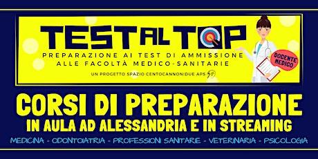 Test 2020 Dietistica, Igiene Dentale, Podologia, Ortottica - ALESSANDRIA biglietti