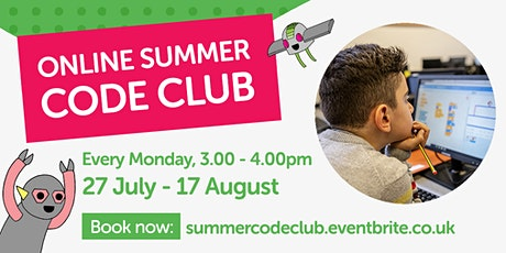 Online Summer Code Club tickets