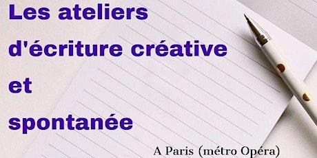 Ateliers d'écriture créative et spontanée à Paris le vendredi matin billets