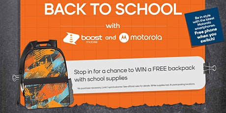 Score a Free Backpack for Your Child tickets