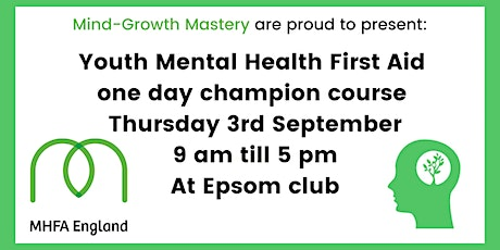 Youth Mental Health First Aid one day champion course tickets