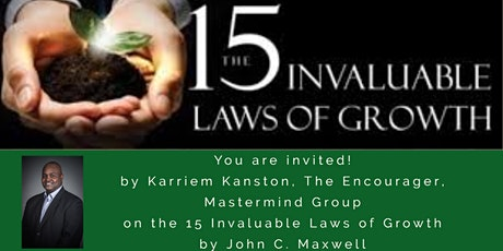 15 Invaluable Laws of Growth tickets