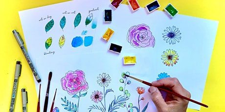 Botanical Illustration and Watercoloring WebJam 1 + 2 tickets
