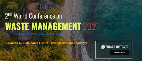 2nd World Conference on Waste Management 2021 (WCWM 2021) tickets