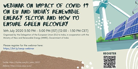 Impact of COVID19 on the EU and India's RE sector & ensuring green recovery tickets