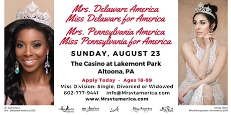 Mrs. DE & PA America/Miss DE & PA for America Pageants 2020 tickets