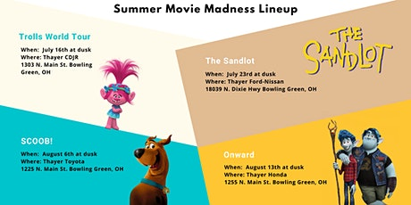 Thayer Family Dealerships Summer Movie Madness tickets