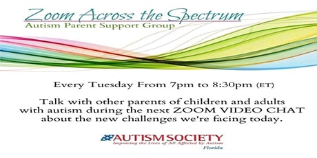 Zoom Across the Spectrum - Autism Parent Support Group tickets