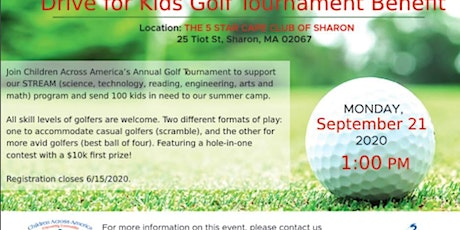 Drive for Kids Golf Tournament, Sept 21 2020 tickets