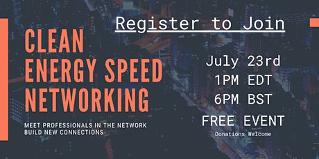 Clean Energy Speed Networking tickets