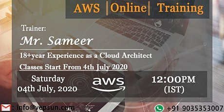 AWS Solution Architect training in Bangalore tickets